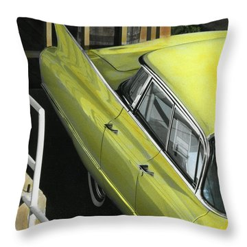 1960 Cadillac Throw Pillow by Jim Mathis