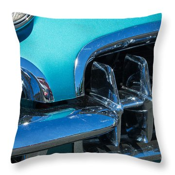 1960 Chevy Corvette Headlight And Grill Abstract Throw Pillow