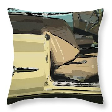 Throw Pillow featuring the photograph 1960 Chrysler 300-f  Muscle Car by David Zanzinger