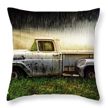 1960 Ford Pickup Truck Throw Pillow