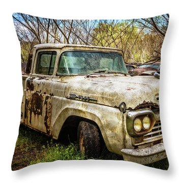 1960 Ford Truck Throw Pillow