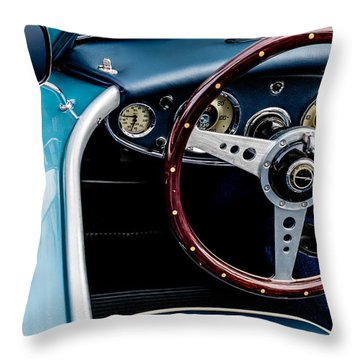 Throw Pillow featuring the photograph 1961 Austin Healey 3000 by M G Whittingham