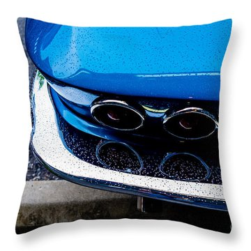 Throw Pillow featuring the photograph 1965 Corvette Sting Ray by M G Whittingham