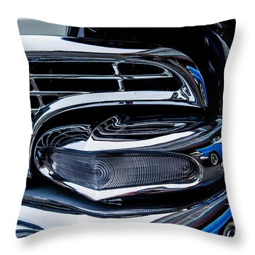 Throw Pillow featuring the photograph 1958 Ford Crown Victoria by M G Whittingham