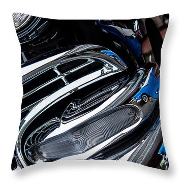 Throw Pillow featuring the photograph 1958 Ford Crown Victoria Reflection 2 by M G Whittingham