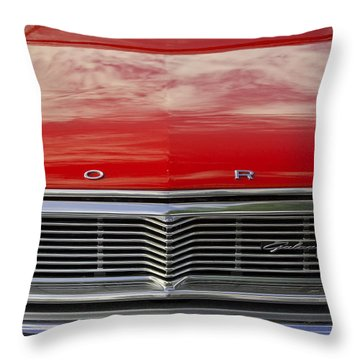 1960s Ford Galaxie Throw Pillow