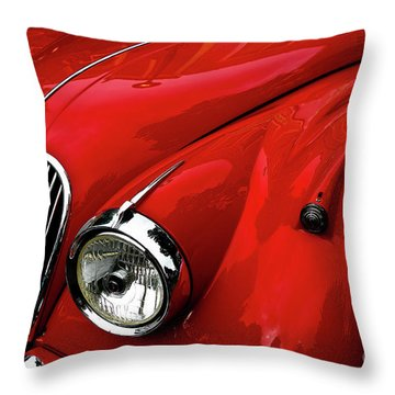 Throw Pillow featuring the photograph 1960s Jaguar by M G Whittingham