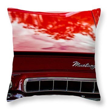 Throw Pillow featuring the photograph 1967 Mustang by M G Whittingham