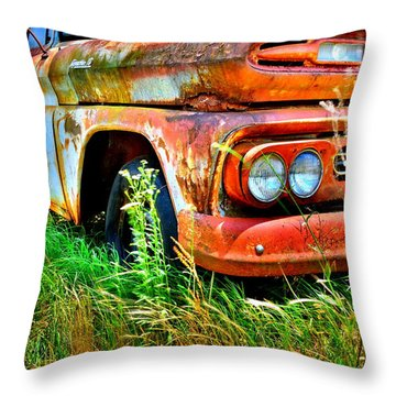 1961 Chevrolet Apache 10 5 Throw Pillow
