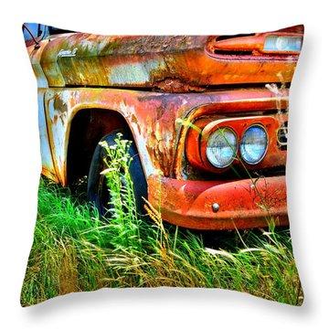 1961 Chevrolet Apache 10 5 Throw Pillow