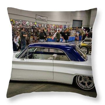 1962 Buick Skylark Throw Pillow by Randy Scherkenbach