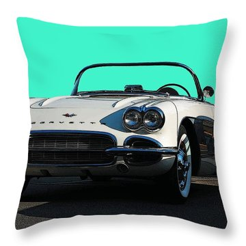 1962 Corvette Throw Pillow