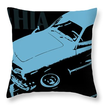 1962 Karmann Ghia Pop Art Blue Throw Pillow