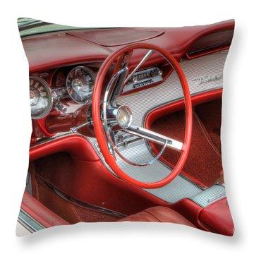 1962 Thunderbird Dash Throw Pillow by Jerry Fornarotto