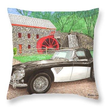 1963 Austin And Sudbury Mill Throw Pillow by Jack Pumphrey