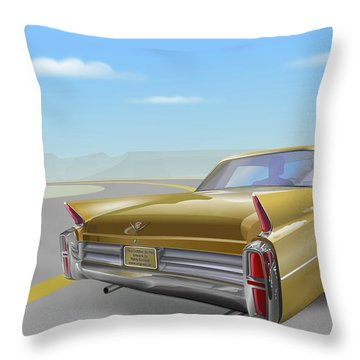 1963 Cadillac De Ville Throw Pillow by Marty Garland