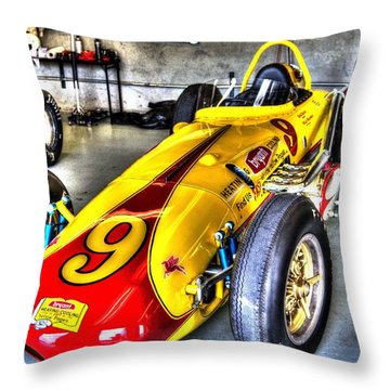 1963 Eddie Sachs Indy Car Throw Pillow