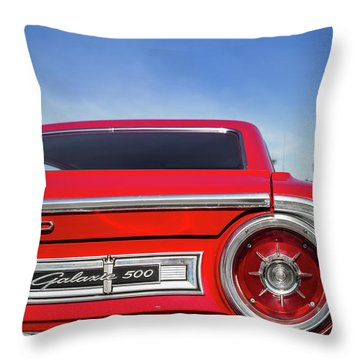 1964 Ford Galaxie 500 Taillight And Emblem Throw Pillow