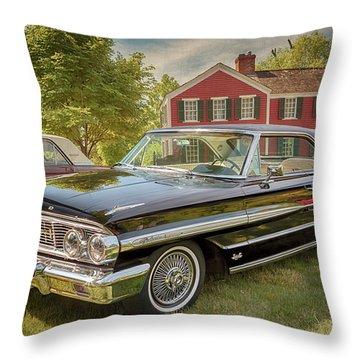 1964 Ford Galaxie 500 Xl Throw Pillow