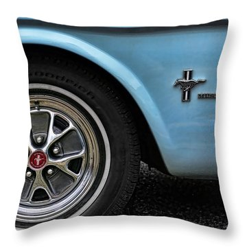 1964 Ford Mustang Throw Pillow by Gordon Dean II