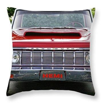 1964 Plymouth Savoy Hemi  Throw Pillow by Gordon Dean II