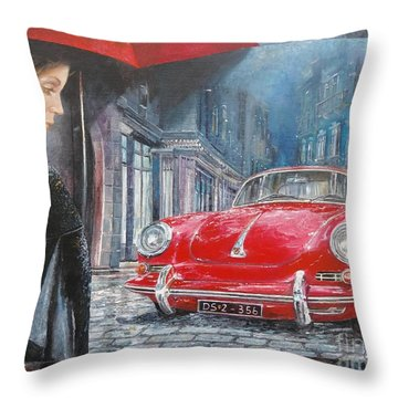 1964 Porsche 356 Coupe Throw Pillow
