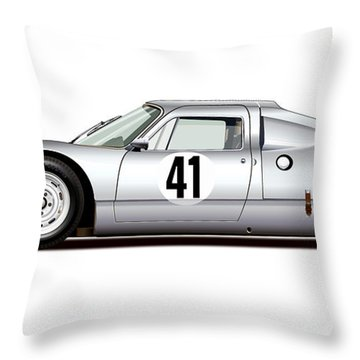 1964 Porsche 904 Carrera Gts Throw Pillow