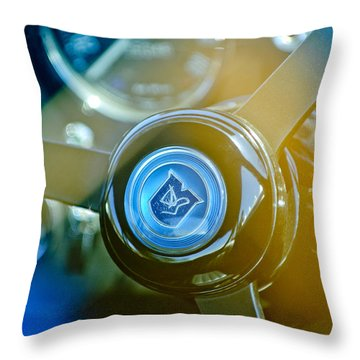 1965 Aston Martin Db5 Coupe Rhd Steering Wheel Throw Pillow