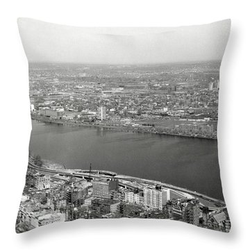 Throw Pillow featuring the photograph 1965 Cambridge And Boston Panorama by Historic Image