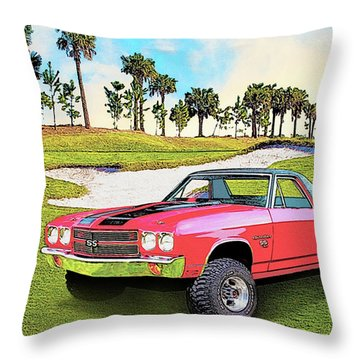 1970 Chevy El Camino 4x4 Not 2nd Generation 1964-1967 Throw Pillow