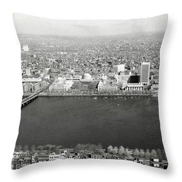 1965 Mit Cambridge And Boston's Back Bay Throw Pillow