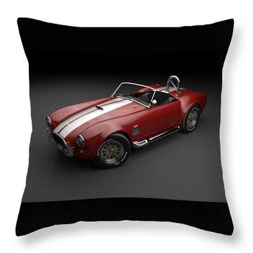 1965 Shelby Cobra Mark 3 Throw Pillow