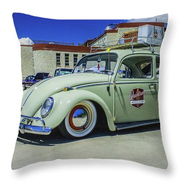 1965 Volkswagen Bug Throw Pillow