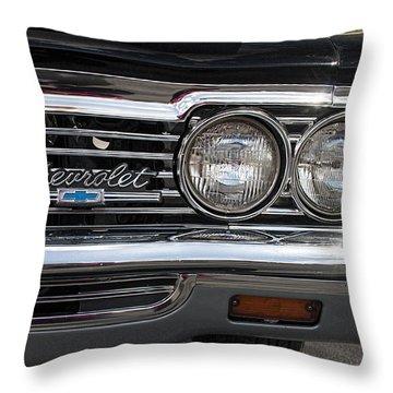 1966 Chevy Impala Chrome Throw Pillow