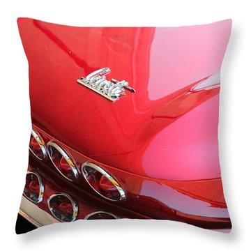 1966 Corvette Stingray Throw Pillow