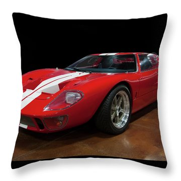 Throw Pillow featuring the photograph 1966 Ford Gt 40 by Chris Flees