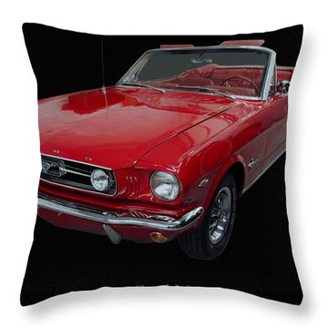 1966 Ford Mustang Convertible Throw Pillow