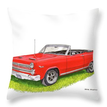 1966 Mercury Cyclone Convertible G T Throw Pillow by Jack Pumphrey