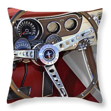 1966 Mustang Throw Pillow