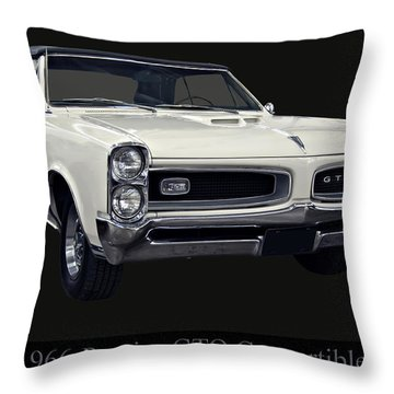 1966 Pontiac Gto Convertible Throw Pillow
