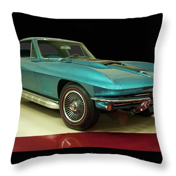 Throw Pillow featuring the digital art 1967 Chevrolet Corvette 2 by Chris Flees
