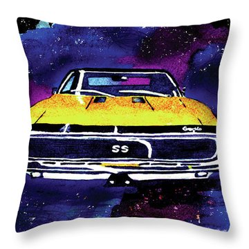 1967 Chevy Camaro Ss Throw Pillow by Paula Ayers