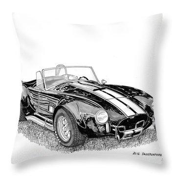 1967 Cobra Sc Throw Pillow by Jack Pumphrey