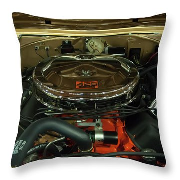 1967 Plymouth Belvedere Gtx 426 Hemi Motor Throw Pillow