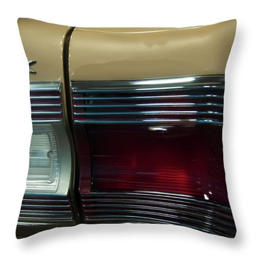 Throw Pillow featuring the photograph 1967 Plymouth Belvedere Gtx Rear Tail Light by Chris Flees