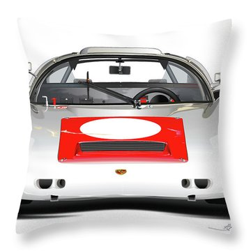 1967 Porsche 910 Illustration Throw Pillow