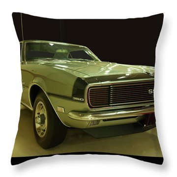 Throw Pillow featuring the photograph 1968 Chevy Camaro Rs-ss by Chris Flees