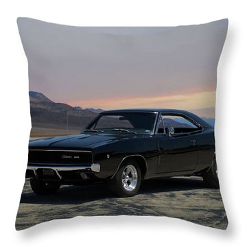 1968 Dodge Charger Rt 440 Throw Pillow