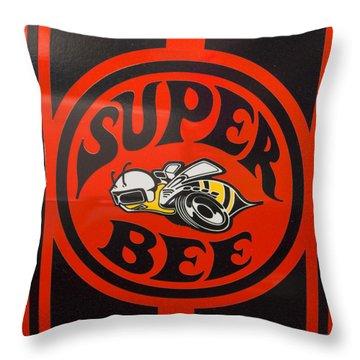 1968 Dodge Coronet Super Bee Emblem Throw Pillow