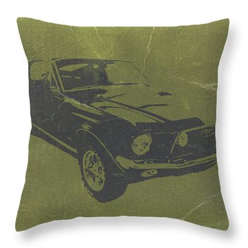 1968 Ford Mustang Throw Pillow